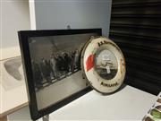 Sale 8563T - Lot 2435 - 1954 Framed Photograph of the Royal Tour at the War Memorial with a Framed Image of SS Koombana (2)