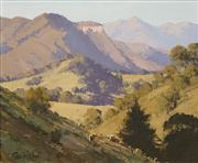 Sale 8624 - Lot 504 - John Wilson (1930 - ) - Wild Dog Ranges (Megalong Valley, NSW) 38 x 46cm