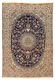 Sale 8715C - Lot 98 - A Persian Nain, 100% Wool Pile And Silk Inlaid With Medallion , 287 x 200cm