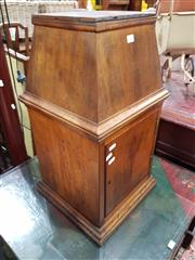 Sale 8740 - Lot 1374 - Early Maple Tabernacle, with tapering top & door