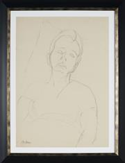 Sale 8908A - Lot 5049 - Desiderius Orban (1884 - 1986) - Portrait of a Sleeping Man (sketch) 60.5 x 43 cm