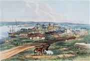 Sale 8975 - Lot 576 - J. S. Prout (1806 - 1876) - Millers Point, From Flagstaff Hill, c1844 18.5 x 27 cm (frame: 54 x 64 x 2 cm)