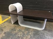 Sale 9022 - Lot 1060 - Modernist Lucite Occasional table (h:65 x w:120 x d:50cm)