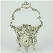 Sale 8252 - Lot 56 - German Silver 800 Standard Jardiniere with a Crystal Bowl Insert