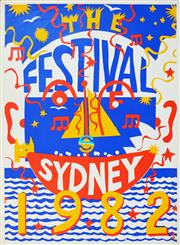 Sale 8256S - Lot 20 - Martin Sharp (1942 - 2013) - Sydney Festival, 1982 98 x 72cm