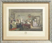 Sale 8330A - Lot 85 - John Burnet (1784 - 1868) - The Reading of a Will 39 x 60cm