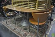 Sale 8299 - Lot 1066 - Ligne Reset Circular Extension Dining Table with Single Leaf & Four Chairs