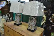 Sale 8328 - Lot 1059 - Pair of Swedish Monarchs Collection Table Lamps (4451)