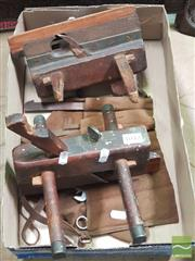 Sale 8455 - Lot 1042 - Vintage Timber Planes x 2 With Spare Blades