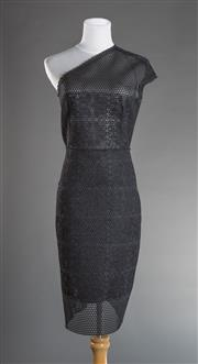 Sale 8493A - Lot 93 - A black Scanlan & Theodore one shouldered 3/4 length cocktail dress, AUS size 10, with tag