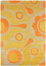 Sale 8563A - Lot 27 - The Florence Broadhurst Collection Design; Solar Made in; Nepal Colour; Tangerine Made from; Tibetan Wool Size; 180 x 120c...