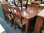 Sale 8611 - Lot 1064 - Modern Timber 5 Piece Dining Suite