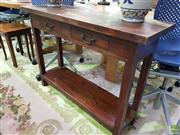 Sale 8629 - Lot 1059 - Timber Two Drawer Hall Stand