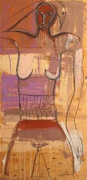 Sale 8665 - Lot 519 - Stephen Langdon - Standing Woman 208 x 103cm