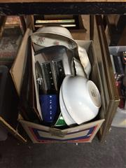 Sale 8659 - Lot 2284 - Box of Sundries incl Frames, Toaster Etc