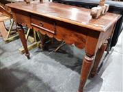 Sale 8740 - Lot 1679 - Timber Hall Table with Two Drawers