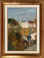 Sale 8818A - Lot 45 - BColin ParkerDRI View of SydneyDR oil on boardR 58 x 39cmR SLL