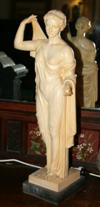 Sale 7670A - Lot 200 - A Resin figure of a Roman Goddess signed to base