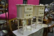 Sale 8035 - Lot 1070 - Pair of Timber Bedsides w 2 Drawers