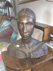 Sale 8098A - Lot 79 - A Bronze Bust Of A Woman, Height 41cm, Provenance : The Collection of Warren & Bunty Bonython