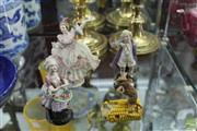 Sale 8217 - Lot 72 - Dresden Crinoline Lady Figure with Others incl Crown Staffordshire Mouse