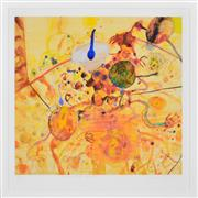 Sale 8389 - Lot 548 - John Olsen (1928 - ) - Little universe of the sous chef. 77 x 81.5cm (frame size 97 x 97cm)