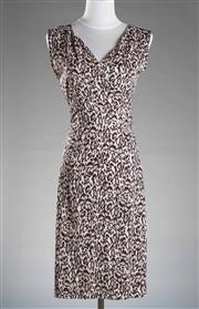 Sale 8493A - Lot 95 - An animal print Dianne Von Ferstenberg sleeveless V neck dress, size 4