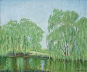 Sale 8583 - Lot 562 - Elioth Gruner (1882 - 1939) - Willow Reflection 30 x 37cm