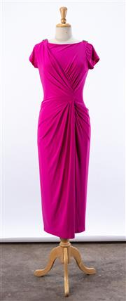 Sale 8891F - Lot 80 - A Lauren Ralph Lauren Evening pink jersey ankle-length dress, size 10
