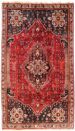 Sale 9181C - Lot 43 - Traditional Pictorial all wool Qashquai Persian densely woven Tribal Rug 225 x 130cm