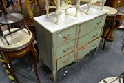 Sale 8035 - Lot 1071 - Marble Top Raised Timber Chest of 3 Drawers