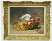 Sale 8362A - Lot 78 - A fine early Antique French still life painting in hand carved French frame, signed lower right, 49 x 64 cm