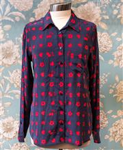 Sale 8474A - Lot 38 - A fun Equipment 100% silk blouse, in excellent condition, size M