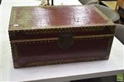Sale 8523 - Lot 1032 - Leather Clad Trunk