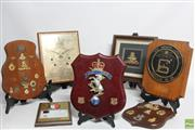 Sale 8551 - Lot 32 - Australian Royal Air Force Plaque Together with USS Duluth LPD-6, Tonga 50th Anniversary and Commemorative Mounted Service Badges