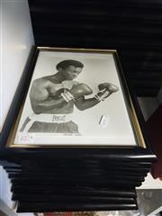 Sale 8659 - Lot 2374 - 10 Framed Boxer Pictures incl. Rocky Graziano, Greg Page, Marvin Hart, Joe Frazier, etc
