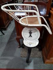 Sale 8740 - Lot 1073 - Vintage Salter Baby Scales