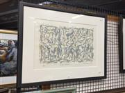 Sale 8771 - Lot 2053 - David Rankin - Grey Scrub lithograph ed. 10/25, 50 x 64cm, signed and dated lower right -