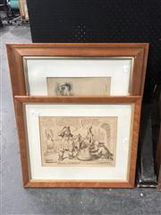 Sale 8824 - Lot 2078 - Group of (5) Early English Engravings (framed) -