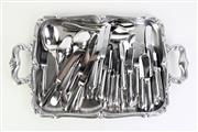 Sale 8897 - Lot 89 - Collection of Christofle Albi Acier Cutlery Setting Together With Alessi Tray (W:52cm)