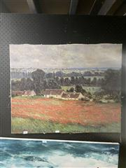 Sale 8898 - Lot 2091 - Monet Print on Canvas - Field of Poppies, 56x70cm details verso