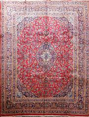 Sale 8959 - Lot 1010 - Persian Red Tone Kashan (380 x 290cm)