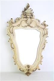 Sale 8957 - Lot 11 - A French Style Crackle Glaze Mirror With Decorative Frame (Mirror Loose) L: 68cm