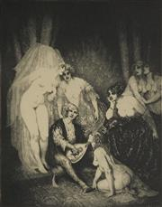 Sale 9078A - Lot 5025 - Norman Lindsay (1879 - 1969) - The Ragged Poet 35 x 27.5 cm (sheet: 48 x 37.5 cm)