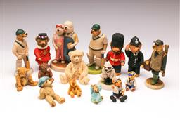 Sale 9110 - Lot 301 - Large collection of bear figurines together with Labrador examples