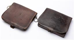 Sale 9130E - Lot 26 - Two small leather satchels, Width 20cm