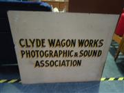 Sale 7969A - Lot 1037A - Clyde Wagon Works Shop Sign