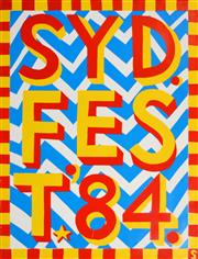 Sale 8256S - Lot 23 - Martin Sharp (1942 - 2013) - SYDFEST '84 97 x 74cm
