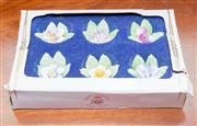 Sale 8346A - Lot 26 - A set of six Royal Adderley floral bone chine place card holders in box