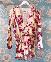 Sale 8474A - Lot 39 - A lovely Stone Cold Fox LA 100% silk floral playsuit, very good condition, size M/L
